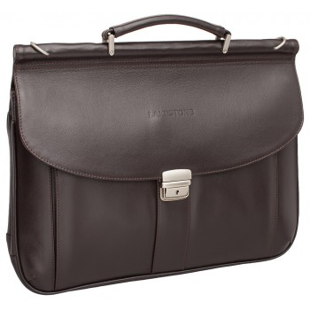 Кожаный портфель Lakestone Hammond brown