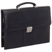 Кожаный портфель Lakestone Harmer black