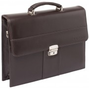 Кожаный портфель Lakestone Harmer brown
