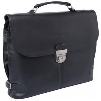 Кожаный портфель Lakestone Holmdale black