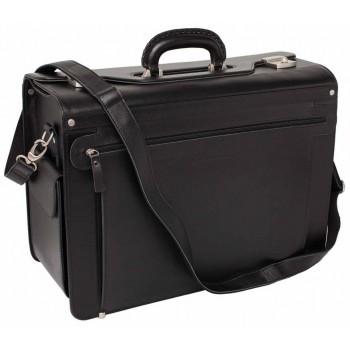 Кожаный портфель Lakestone James black