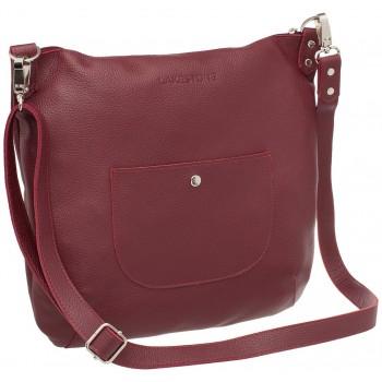 Женская кожаная сумка Lakestone Kelbra burgundy