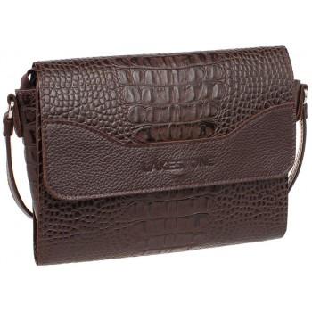 Женская кожаная сумка Lakestone Kidney brown