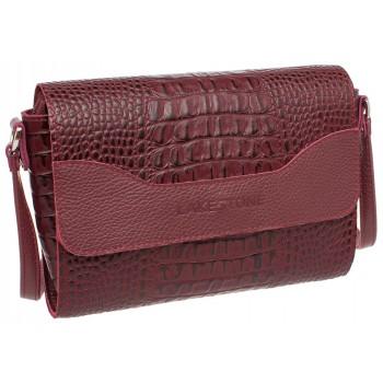 Женская кожаная сумка Lakestone Kidney burgundy