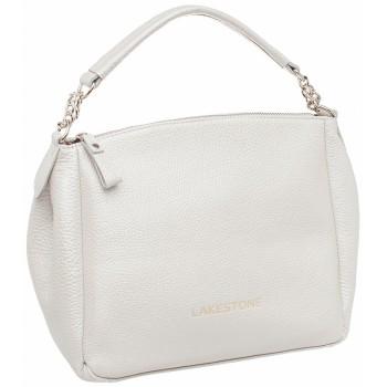 Женская кожаная сумка Lakestone Lacey white pearl