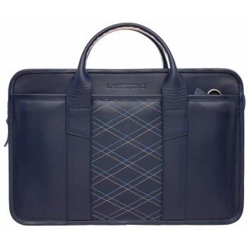 Деловая сумка Lakestone Marion blue rhombus