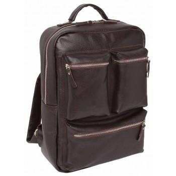 Кожаный рюкзак Lakestone Norley brown