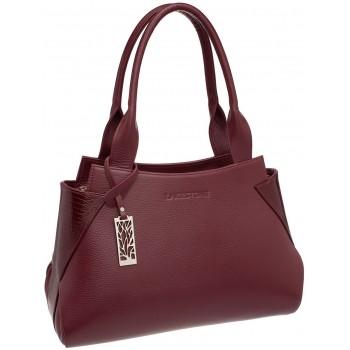 Женская кожаная сумка Lakestone Osprey burgundy
