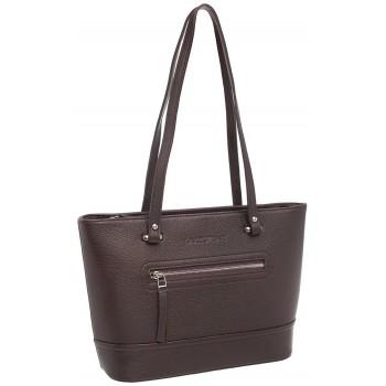 Женская кожаная сумка Lakestone Page brown