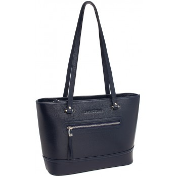 Женская кожаная сумка Lakestone Page dark blue