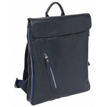 Кожаный рюкзак Lakestone Ramsey dark blue