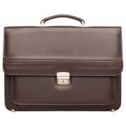 Кожаный портфель Lakestone Reedley brown