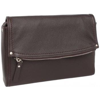 Женская кожаная сумка кросс-боди Lakestone Ripley brown