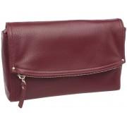 Женская кожаная сумка кросс-боди Lakestone Ripley burgundy