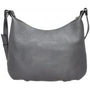 Женская кожаная сумка Lakestone Sloan silver grey