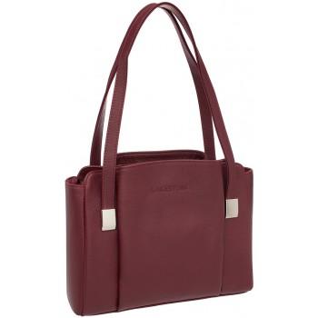 Женская кожаная сумка Lakestone Tara burgundy
