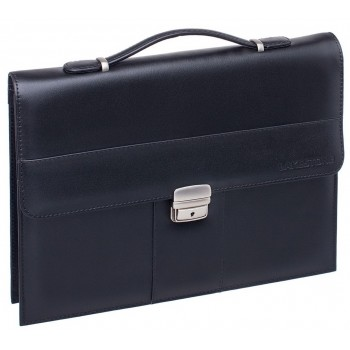 Кожаная папка-портфель Lakestone Thomas black