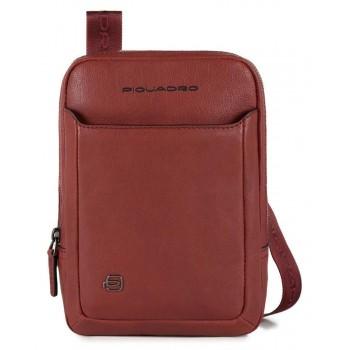 Мужская сумка через плечо Piquadro Black Square CA3084B3/R красного цвета