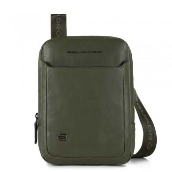 Мужская сумка через плечо Piquadro Black Square CA3084B3/VE зеленого цвета