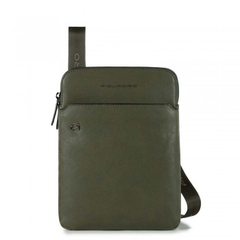 Мужская сумка через плечо Piquadro Black Square CA3978B3/VE зеленого цвета