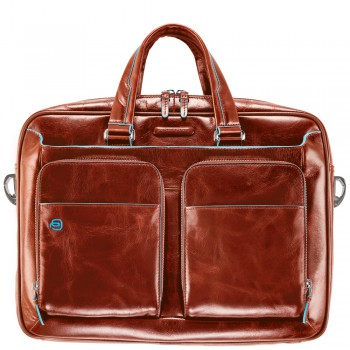 Мужская сумка Piquadro Blue Square (CA2849B2/AR) оранжевого цвета