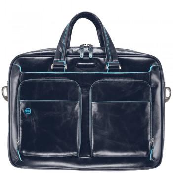 Мужская сумка Piquadro Blue Square (CA2849B2/BLU2) синего цвета