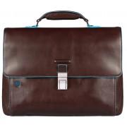 Мужской портфель Piquadro Blue Square (CA3111B2/MO) коричневого цвета