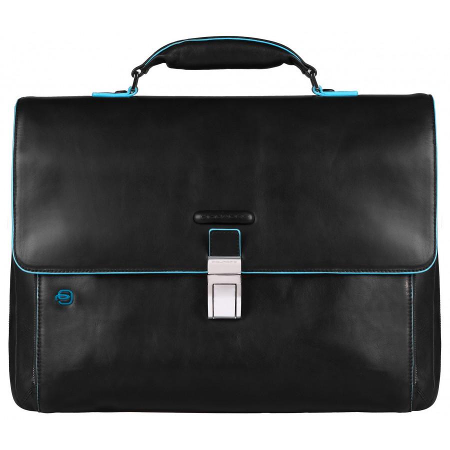 2ac34278a775 Мужской портфель Piquadro Blue Square (CA3111B2/N) из кожи черного цвета