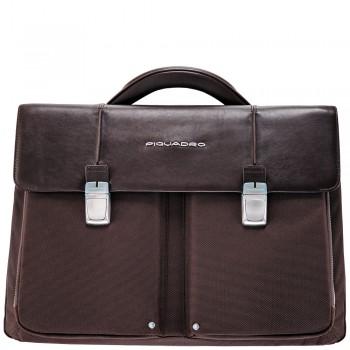 Портфель Piquadro Link (CA1044LK/TM) коричневого цвета