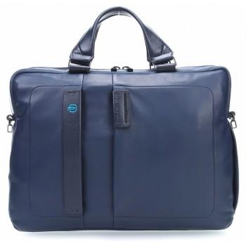 Мужская сумка Piquadro Pulse CA1903P15/BLU3 синего цвета