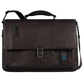Мужской портфель Piquadro Pulse (CA3111P15/M) коричневого цвета