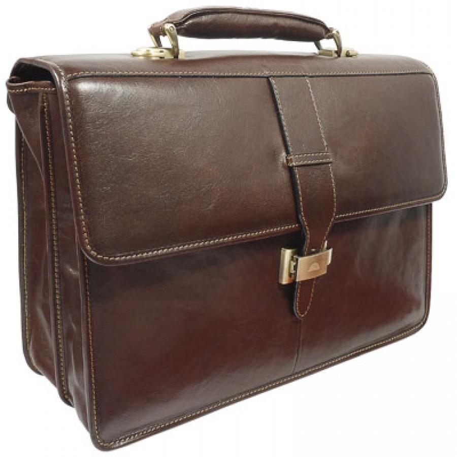 a84499c5c421 Коричневый мужской портфель из натуральной кожи Tony Perotti 331201