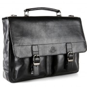 Кожаный портфель Tony Perotti 3314621 black