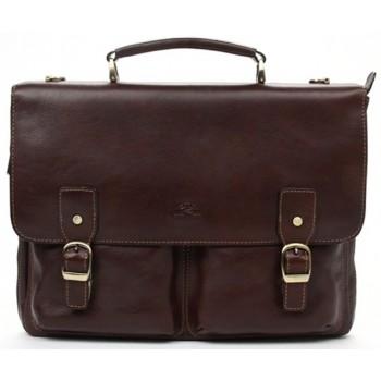 Кожаный портфель Tony Perotti 3330652 brown