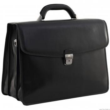 Кожаный портфель Tony Perotti 3313301 black