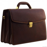 Кожаный портфель Tony Perotti 3313302 brown