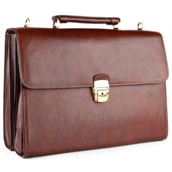 Кожаный портфель Tony Perotti 3332812 brown