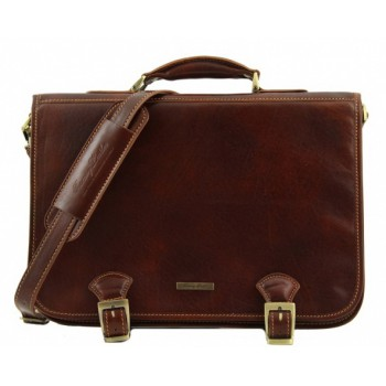 Кожаный портфель Tuscany Leather Ancona TL140866 brown