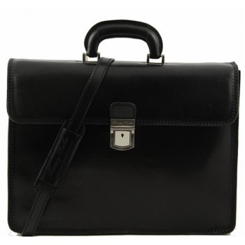 Кожаный портфель Tuscany Leather Parma TL10018 black