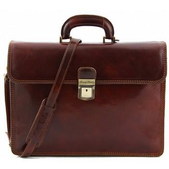 Кожаный портфель Tuscany Leather Parma TL10018 brown
