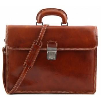 Кожаный портфель Tuscany Leather Parma TL10018 honey