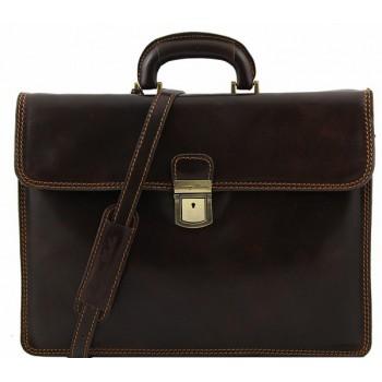 Кожаный портфель Tuscany Leather Parma TL10018 dark brown