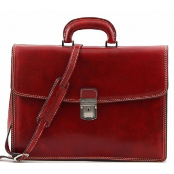 Кожаный портфель Tuscany Leather Parma TL10018 red