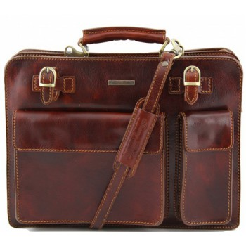 Кожаный портфель Tuscany Leather Venezia TL141268 brown