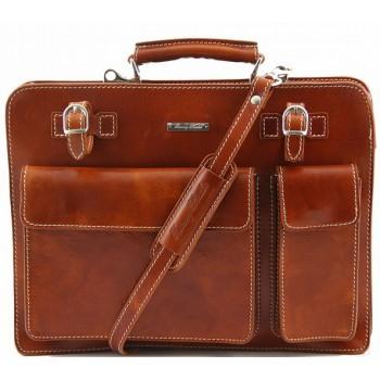 Кожаный портфель Tuscany Leather Venezia TL141268 honey