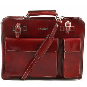 Кожаный портфель Tuscany Leather Venezia TL141268 red