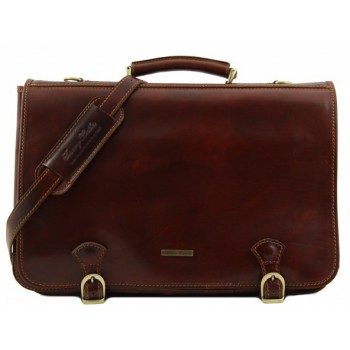 Кожаный портфель Tuscany Leather Ancona TL10025 brown