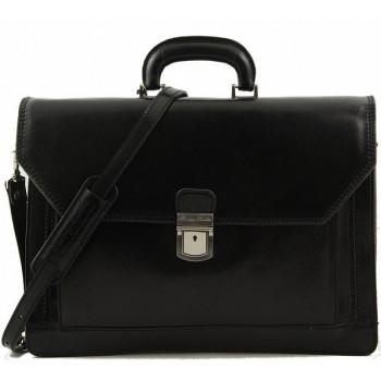 Кожаный портфель Tuscany Leather Roma TL10026 black