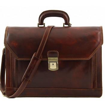Кожаный портфель Tuscany Leather Roma TL10026 brown