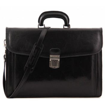 Кожаный портфель Tuscany Leather Napoli TL10027 black